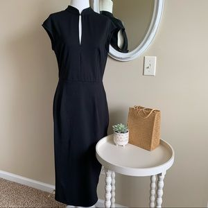 ASOS Black Pencil Sheath Dress Size 8